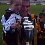 Martin Stewart with mascot (Fraser Newlands)