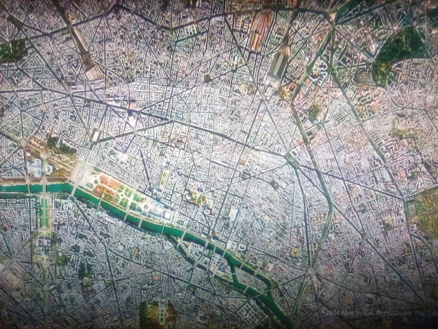 Paris on my screen #toronto #paris #satelliteimage #googleearth #googlehome #television