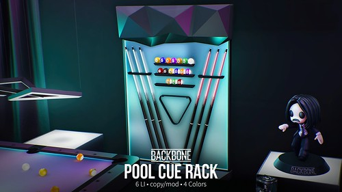 BackBone Pool Cue Rack