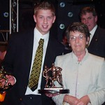 Young Player of the Year: Paul Winton presented with his award by Tunic Fraser (Fraser Newlands)