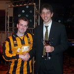 Andrew Hassan present Ross Campbell with the Supporters Player of the Year (Fraser Newlands)
