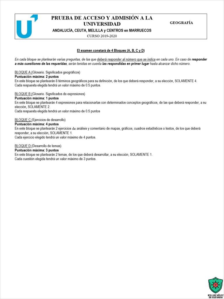 Estructura Del Examen De Geografia Una Version Mas Legibl Flickr
