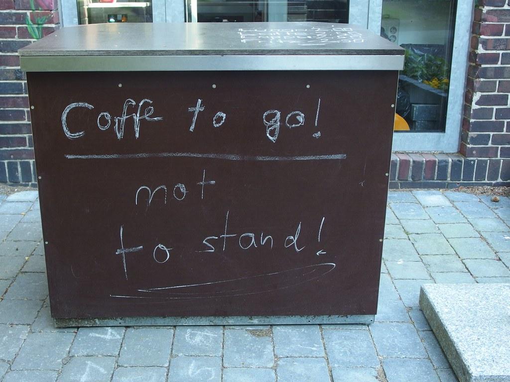 Coffe[e] to go!