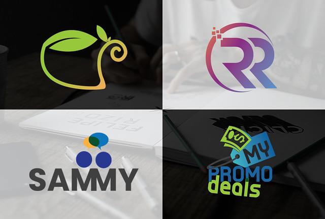 design modern unique initial letters creative monogram logo