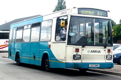 L522 BNX ARRIVA Midlands' No. 2022.  Dennis Dart / East Lancs on Dennis Basford's railsroadsrunways.blogspot.co.uk'