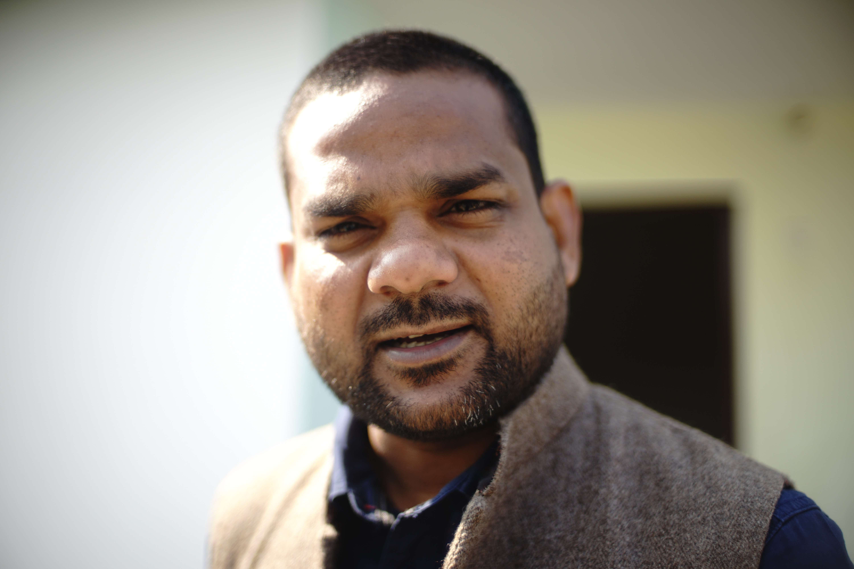 Karyakarta, anti-CAA yatra in Bhagalpur, India, 2020 | J-T.M.