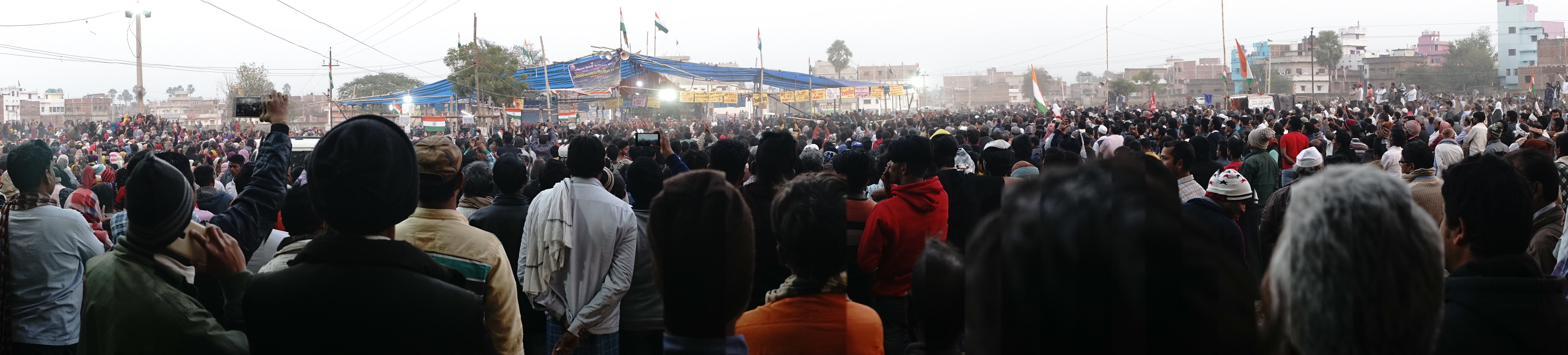 Rally ground, anti-CAA yatra in Jamui, India, 2020 | J-T.M.