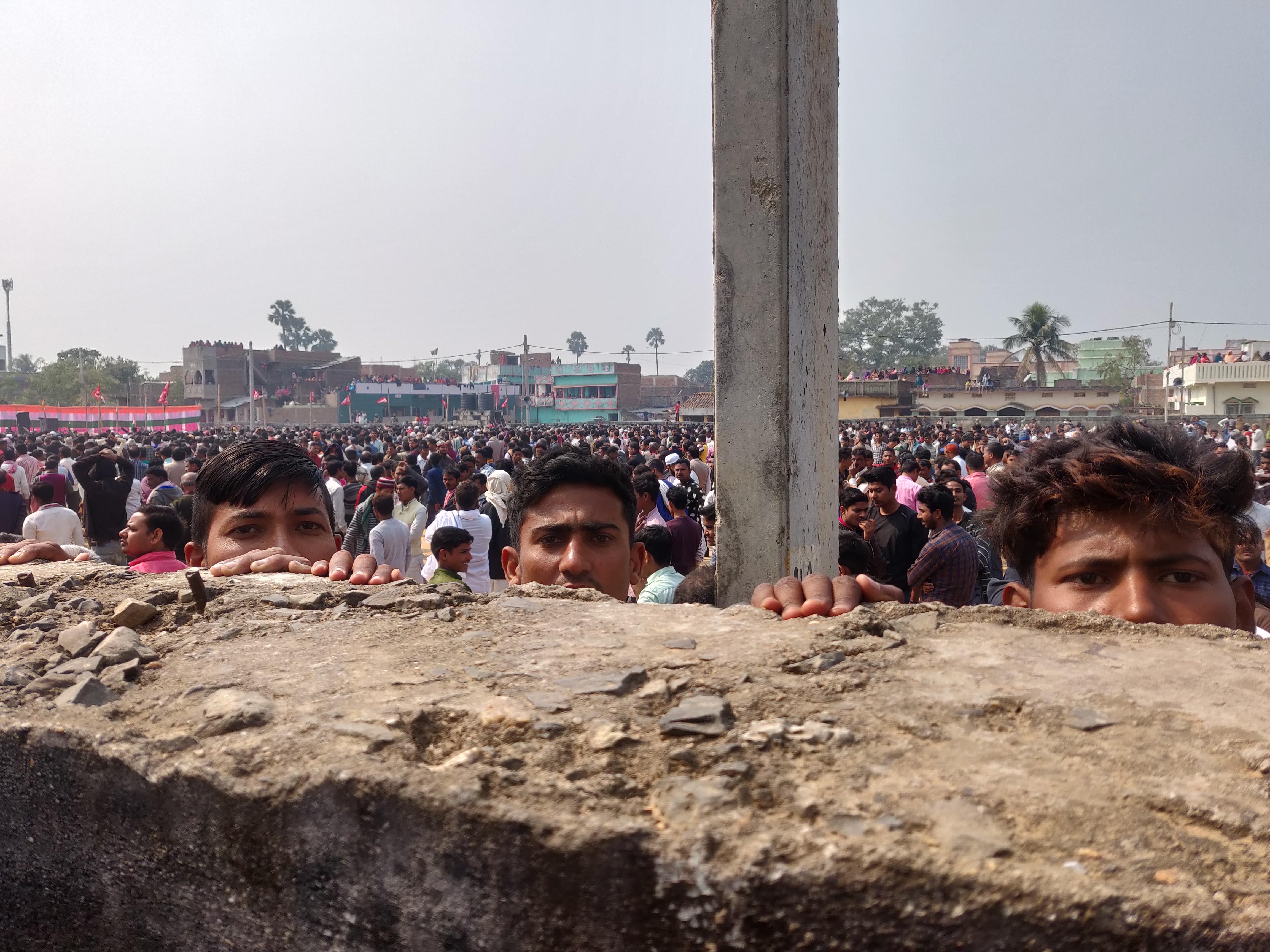 Spectators, anti-CAA yatra in Munger, India, 2020 | J-T.M.