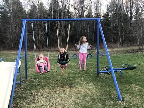 springtime swinging