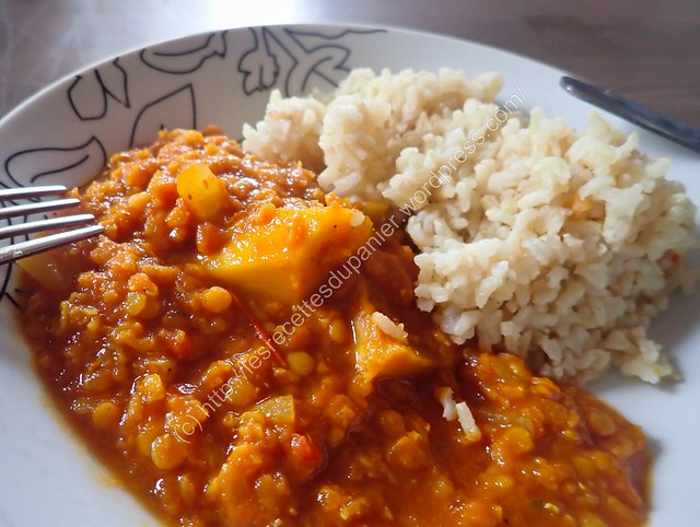 Curry aux courges et lentilles Corail / Squash and Red Lentils Curry