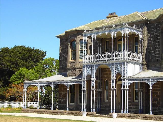 Winchelsea Facade Of Barwon Park House Near Geelong Flickr
