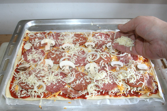 05 - Weiteren Käse aufstreuen / Add more cheese