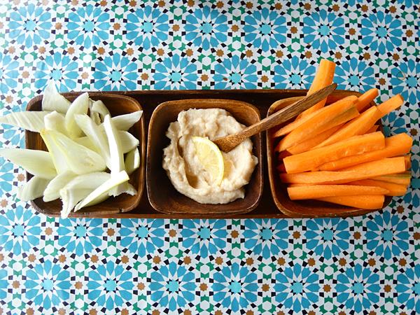tarama et légumes