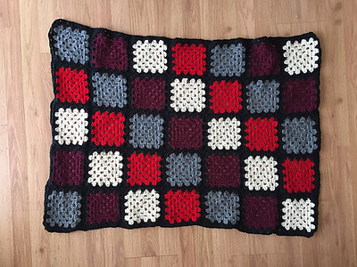 Christina taught herself to crochet so she could make this classic granny square blanket for her youngest!