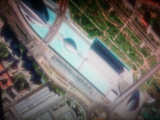 Valencia on my screen #toronto #valencia #spain #satelliteimage #googleearth #googlehome #television
