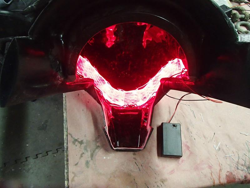 Helmet Lighting Test Installed