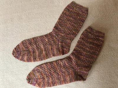 Connie (knitnut246) finished a pair of Erica Lueder's Hermione's Everyday Socks - a free Ravelry download