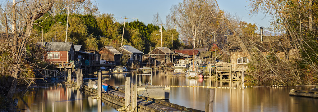 P0001370 Vancouver Trip Finn Slough Sunset PANO - 21-Oct-2019 to 07-Nov-2019