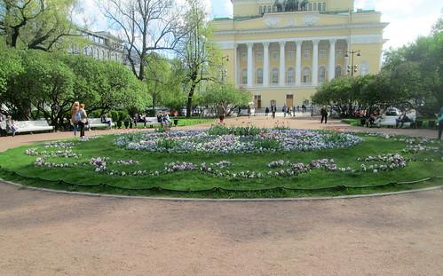Planting Ostrovskogo Square, St Petersburg
