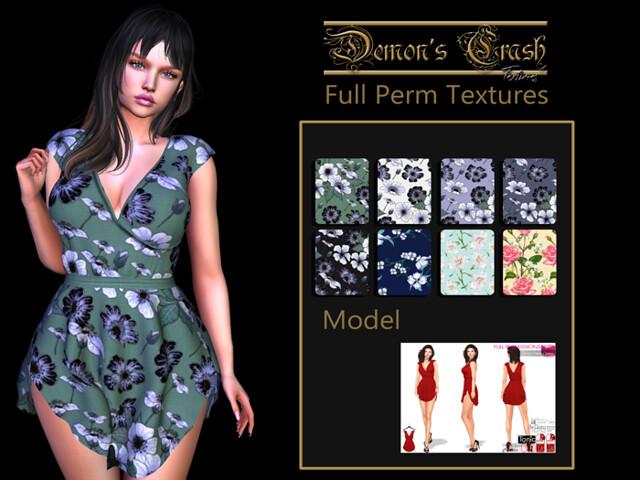 [DC] Textures – MI963845 Short Hem Dress – 1