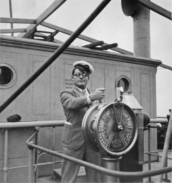 David van Gelderen aboard Kaisar-I-Hind towards Shanghai, December 1932