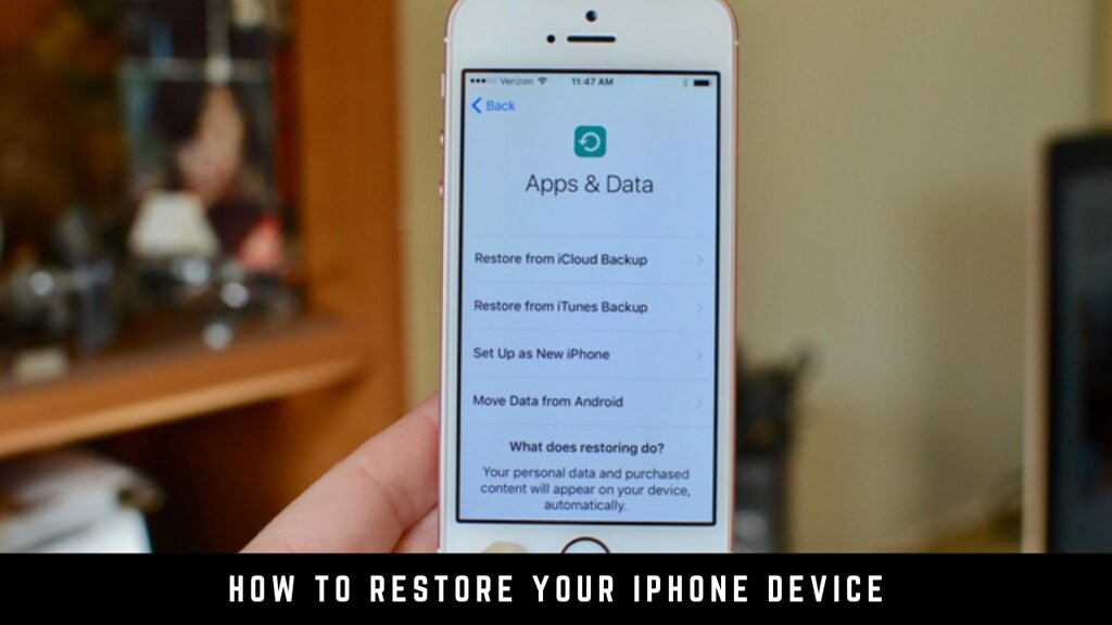 How to Restore Your iPhone Device