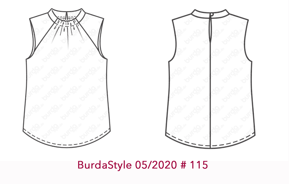 Burda Style 05-2020-115 tech drawings