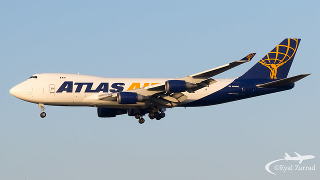 TLV - Atlas Air Boeing 747-400F N486MC