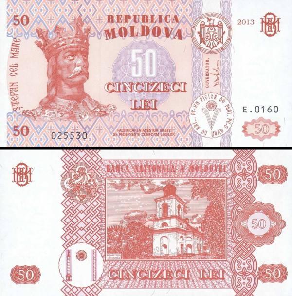 50 Lei Moldavsko 2013, P14f