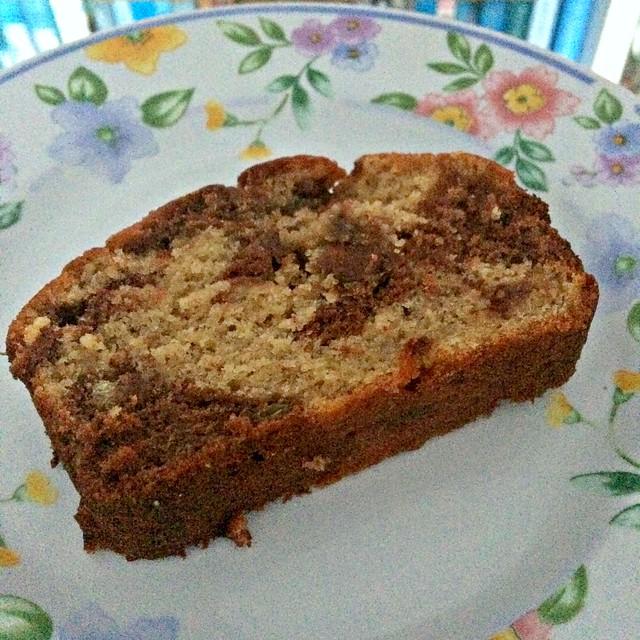 slice of banana loaf