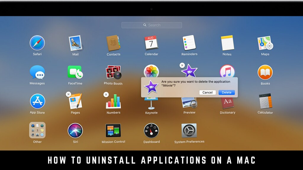 How to uninstall applications on a Mac