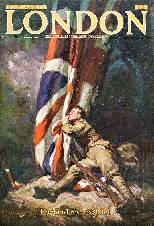 Soldier hugging a Union Jack