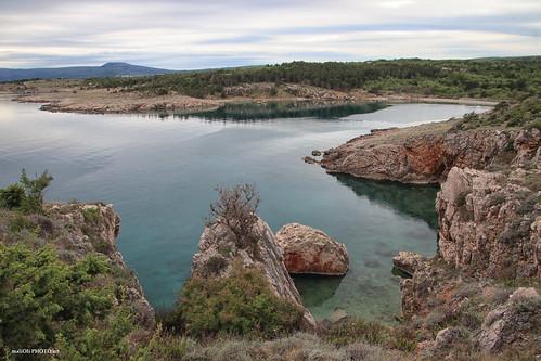 bay beach sea coast landscape rocks water croatia hrvatska europe canon