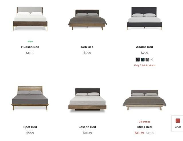 castlery bed frames & mattresses