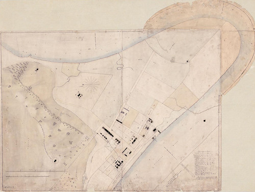 Layout of the convict settlement -  1838