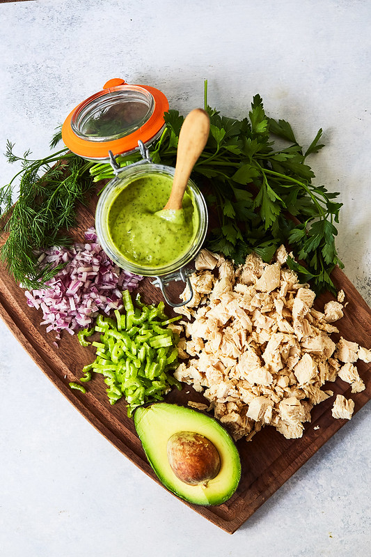 California Avocado Ranch Chicken Salad