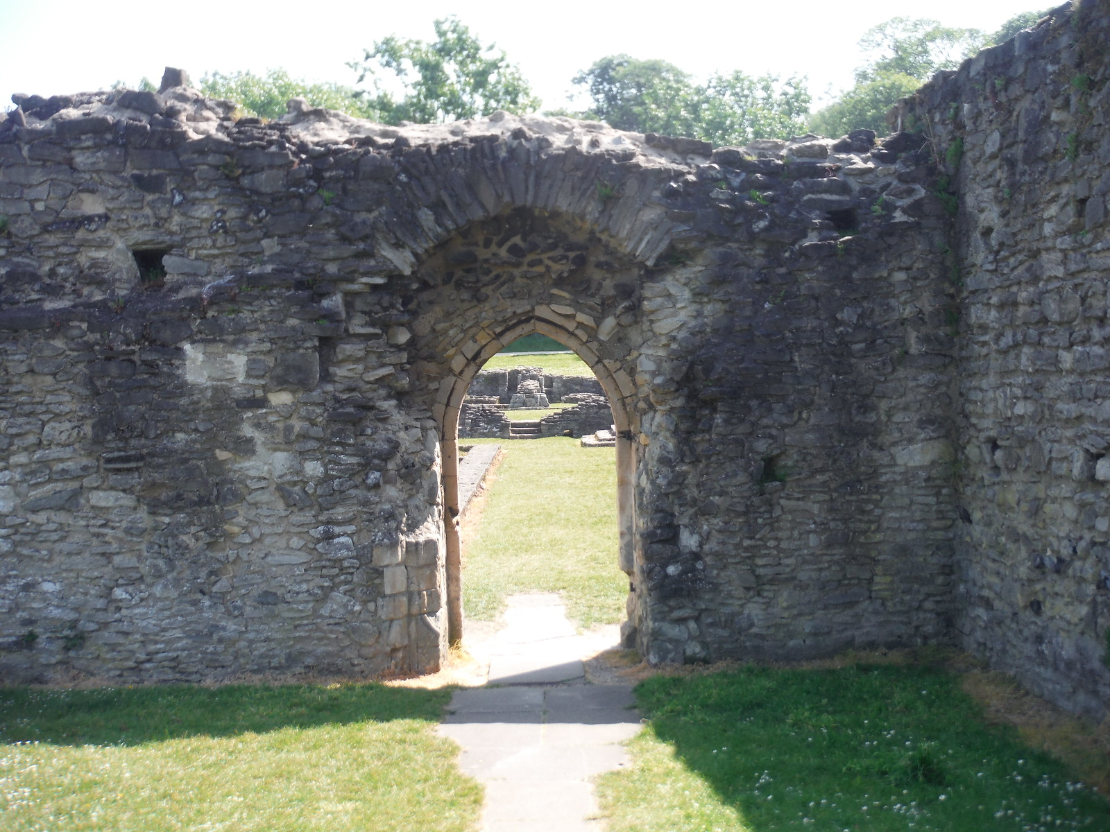 Lesnes Abbey Ruins, Gateway into Cloisters SWC Short Walk 43 - Lesnes Abbey Woods with Bostall Woods (Abbey Wood Circular)
