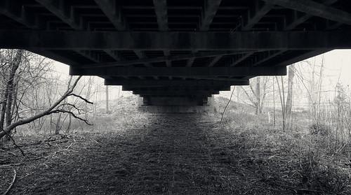 cameraphone phone blackberry dtek50 photowalk photowalks solo snow snowing snowinginmay maysnow blizzardlike underthebridge bridge underside sheltered strangeweather img202005091246422