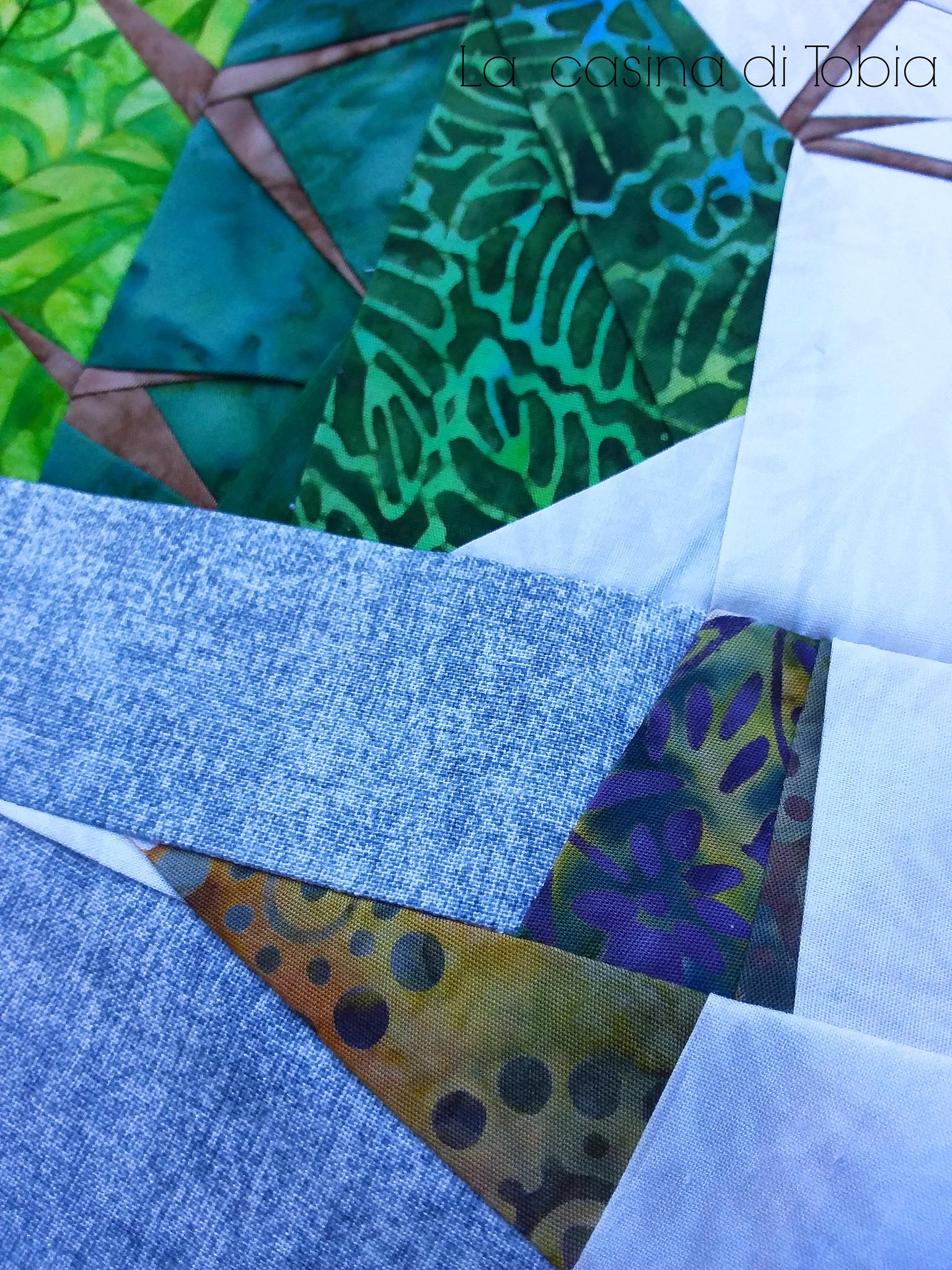 Batik fabric english paper piecing la casina di tobia
