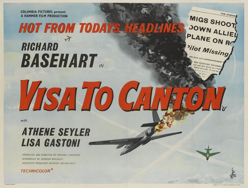 Poster UK Quad Crown du film Visa pour Canton / Visa to Canton / Passport to China (Michael Carreras, 1960)