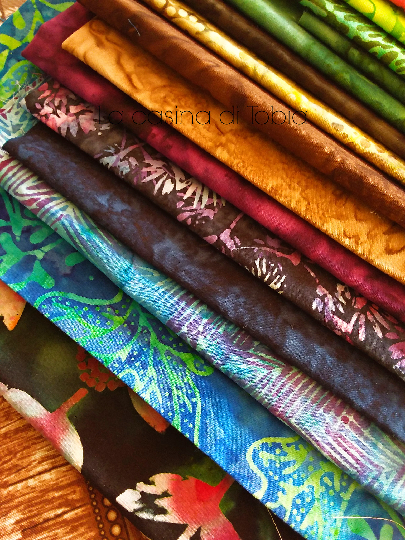 Batik fabric english paper piecing