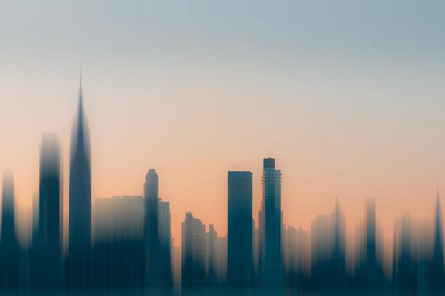 Manhattan Sunrise Abstract
