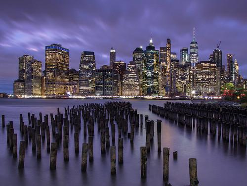 night usa newyork river cloud water cityscape bluehour newyorkcity nyc skyline