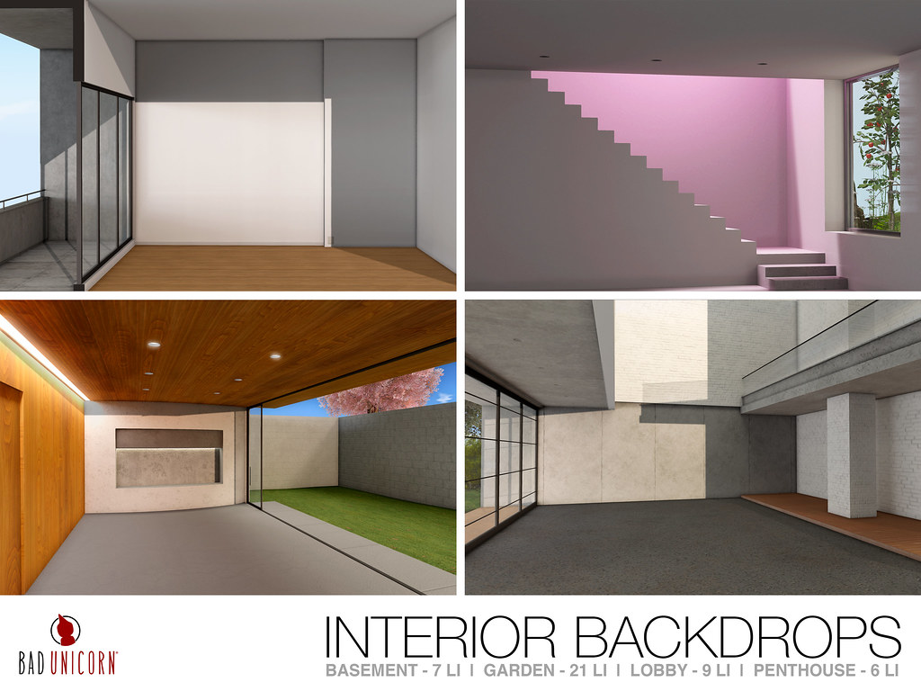 NEW! Interior Backdrops @ C88