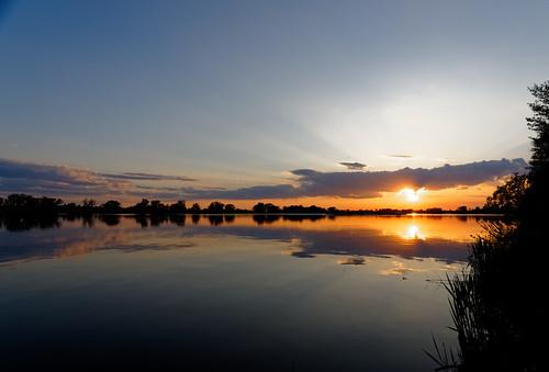 sunsetreflectionswaterrivertrees