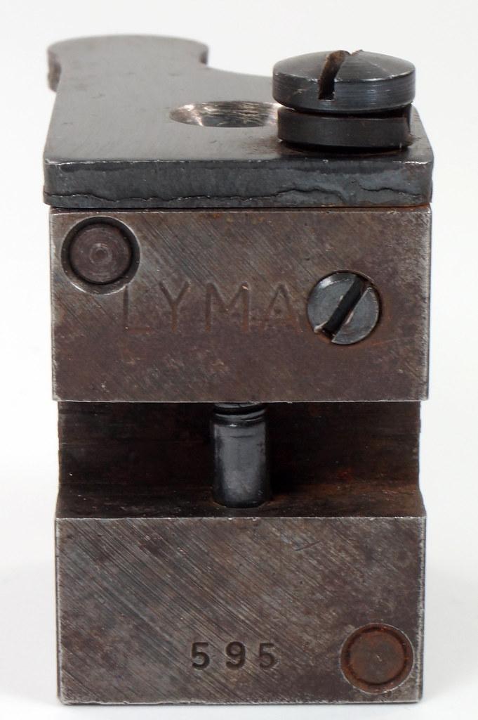 RD16231 Vintage Lyman Bullet Mold Single Cavity 437 595 Round Ball DSC03951
