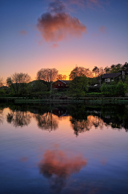 Colourful evening