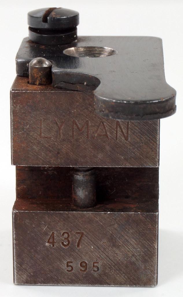 RD16231 Vintage Lyman Bullet Mold Single Cavity 437 595 Round Ball DSC03953