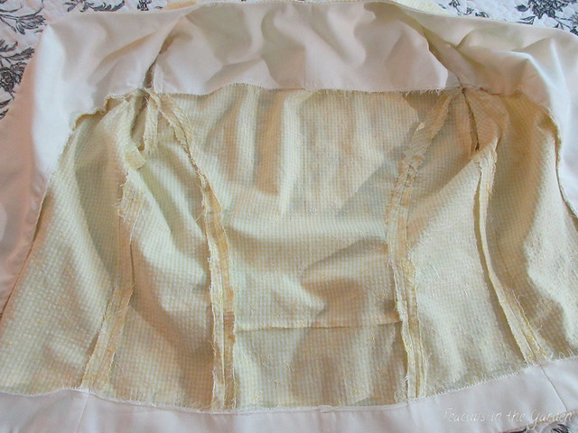 3-Yellow Gingham Embroidered Jacket