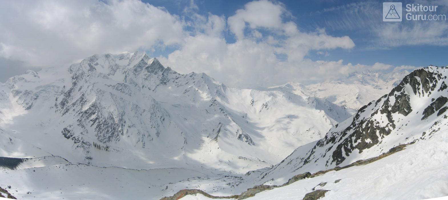 Cabane Valsorey Walliser Alpen / Alpes valaisannes Schweiz panorama 14